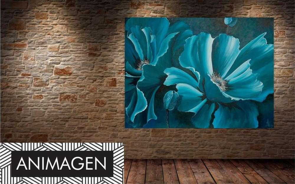 Cuadro decorativo tono azul 2212
