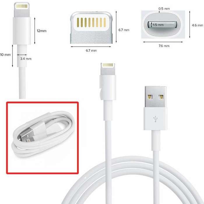 Cable Usb A Lightning 1Mts p- Iphone Alternativo