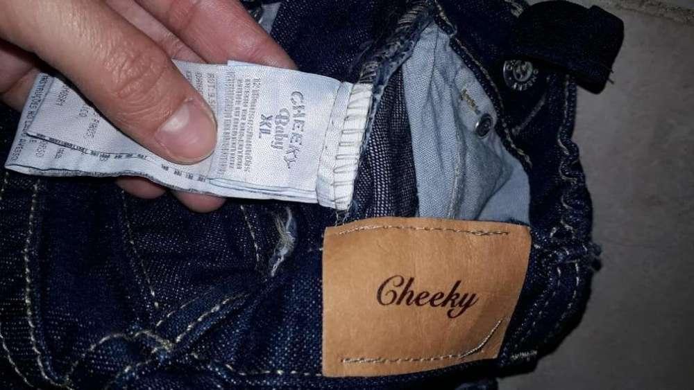 Pantalon Jeans <strong>cheeky</strong> talle xl de 12 a 18 meses Unisex