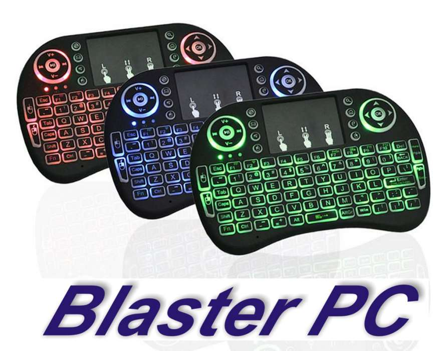 Mini Teclado Inalámbrico Iluminado Smart Tv Zona Alto Rosario BLASTER <strong>pc</strong>