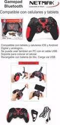GAMEPAD NETMAK BLUETOOTH ANDROID IOS PC CON SOPORTE NM J7024