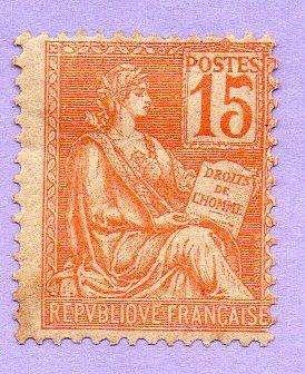 SELLO N 117 YVERT DE FRANCIA