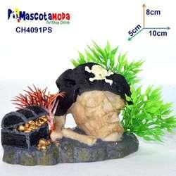 Cráneos y calaveras decoraciones para acuarios y peceras