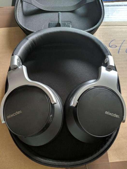 Audífonos Mixcder E7, bluetooth, con cancelación de ruido activa forro semirrígido