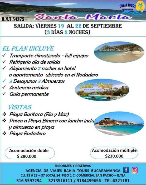 Tour Santa Marta 19 Septiembre Super Pro