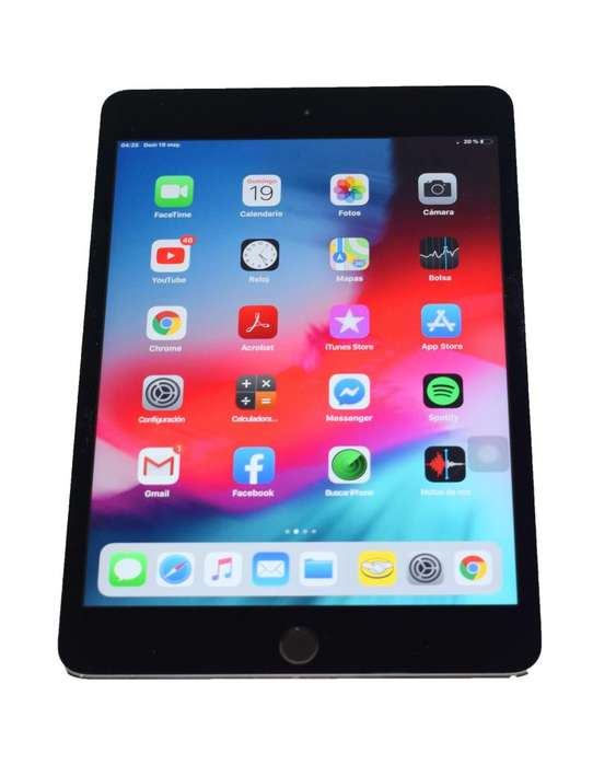 iPad Mini 4 Apple, Caja Accesorios, 9.5/10, Gris, Wifi, 16gb