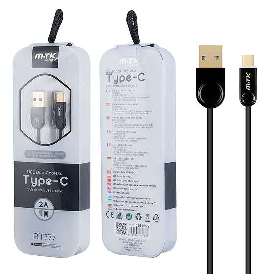 Cable USB Tipo C M-TK BT777