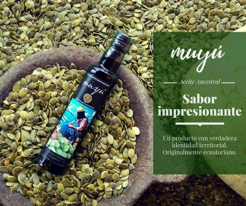 Aceite Muyu (aceite de Pepas de Sambo)