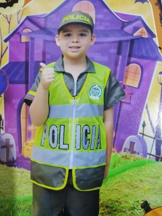 Disfraz de polica talla 8