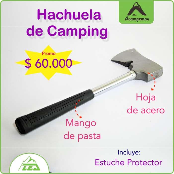 Hacha para camping
