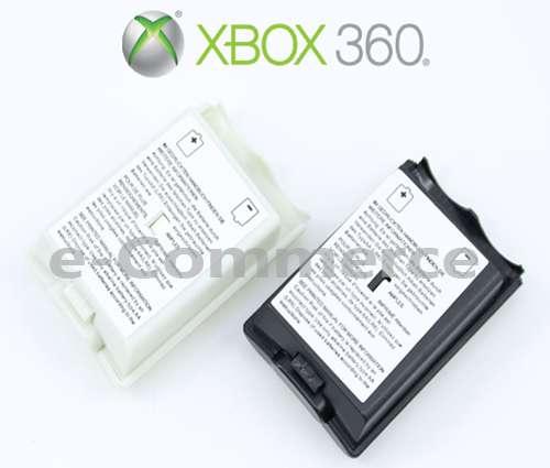 Tapa Porta Pilas Blanca Negra Control Palanca Xbox 360 Palanca Mando