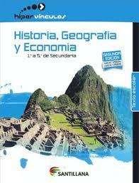 Libro Historia Geografia Economia 2do y 4to secundaria santillana