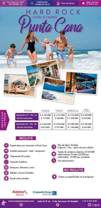 Viaje como un Rey a Punta Cana H. HARD ROCK HOTEL & CASINO con Viajes la Corona