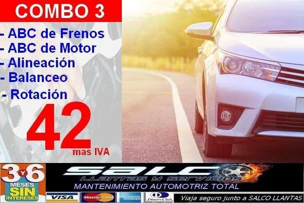 FRENOS ALINEACION BALANCEO ROTACION ABC MOTOR