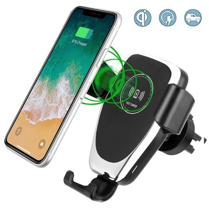 Cargador Soporte Inalambrico Qi Carro Vehiculo S10 Iphone X Note 9 Note 10 Iphone 8