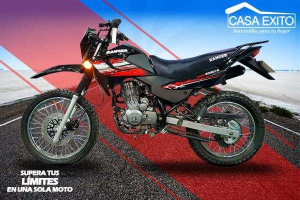 Moto Ranger 200gy-8 200cc Año 2018 Color Negro / Rojo Casa Éxito