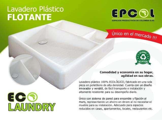 Lavadero en plástico de alta densidad. muy liviano