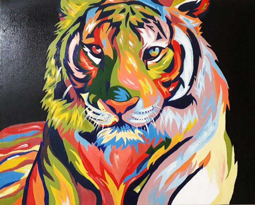Hermoso Cuadro Tigre Pop