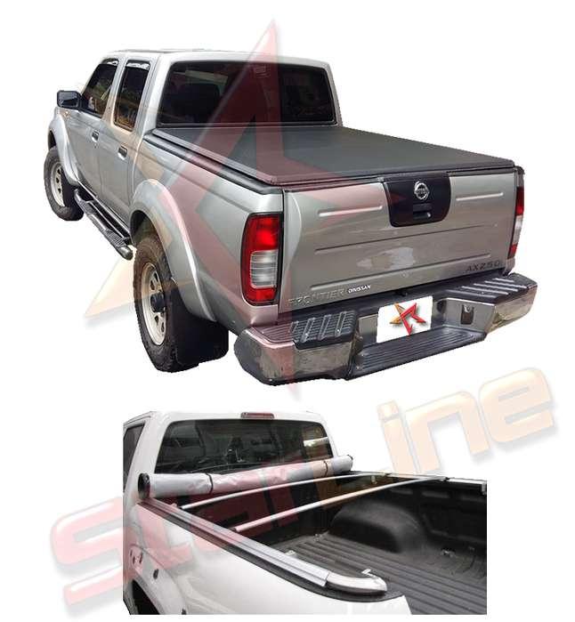 Carpa Plana Nissan Frontier D22 Lona Con Marca Enrollable Riel Aluminio Camioneta Ref MC131 ¡Envío Gratis!