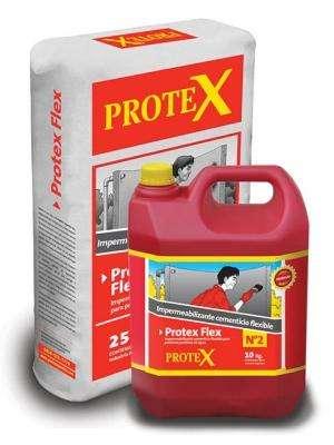 PROTEX FLEX Gris Kit Pre-Dosificado x 35 kg - Impermeabilizante Cementicio Flexible para techos y tanques.