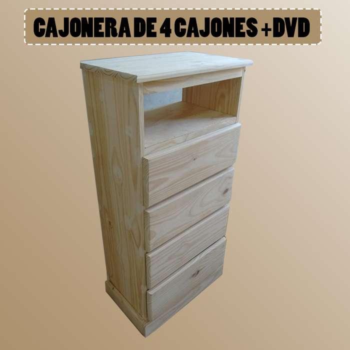 CAJONERA DE 4 CAJONES DVD