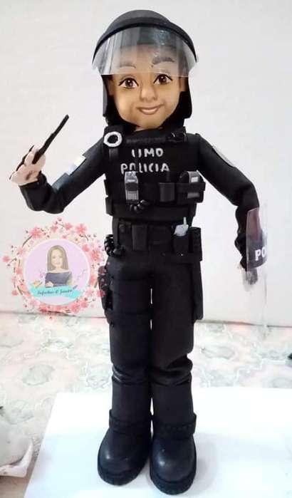 Muñecos personalizados. POLICIAS,ODONTOLOGOS,ENFERMERAS,DOCTORAS,ETC...