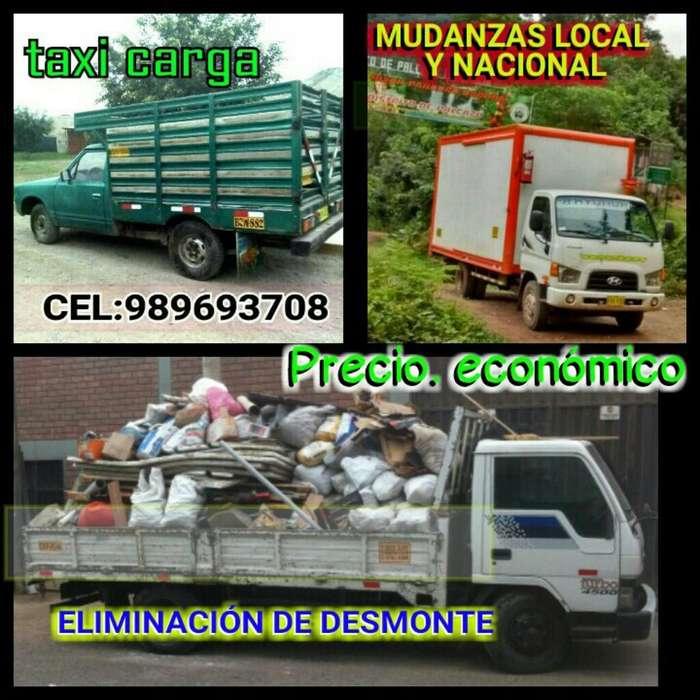 Mudanzas Taxi Carga// Elimino Desmonte
