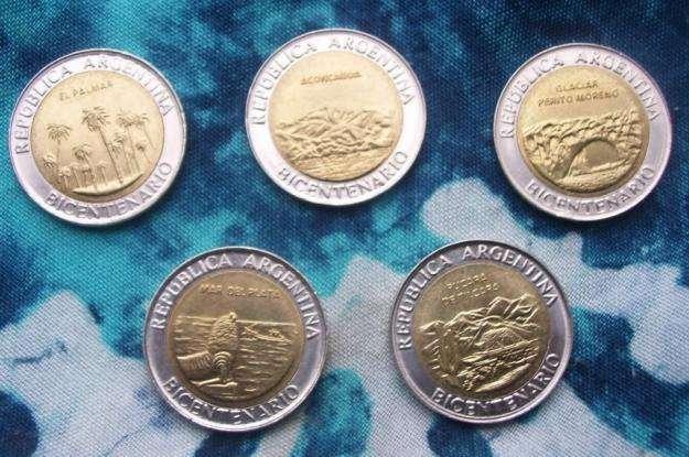 VENDO Lote 5 monedas del Bicentenario