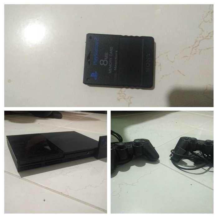Play Station 2 con 2 Controles Y Memoria