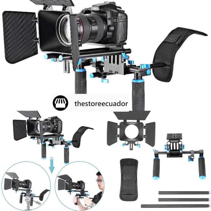 Estabilizador Soporte Para Hombro Cámara Dslr Canon Nikon Sony