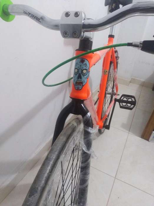 bicicleta fixie fixed naranja