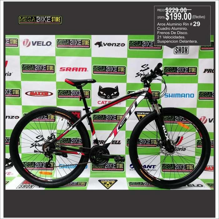 Bicicleta Rin 29 aluminio GTI , montañera , frenos disco, suspension, aro 29