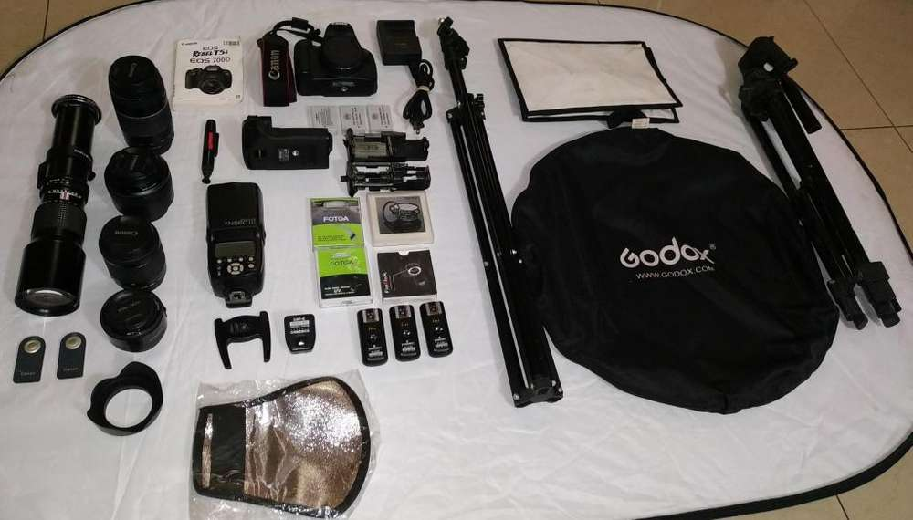 Camara Canon T5i / 700D 5 lentes y full accesorios