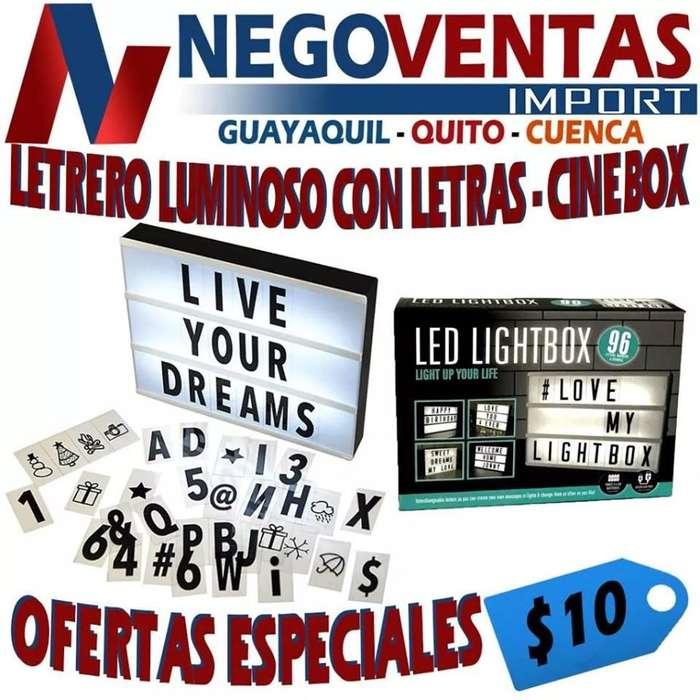 LETRERO LUMINOSO CON LETRAS , CINE BOX
