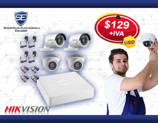 Venta e instalacion del kit sistema de camaras de seguridad Hikvision para casas y locales garantia 2 años