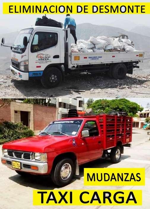 eliminación de desmonte. transporte de carga. taxi carga. mudanzas