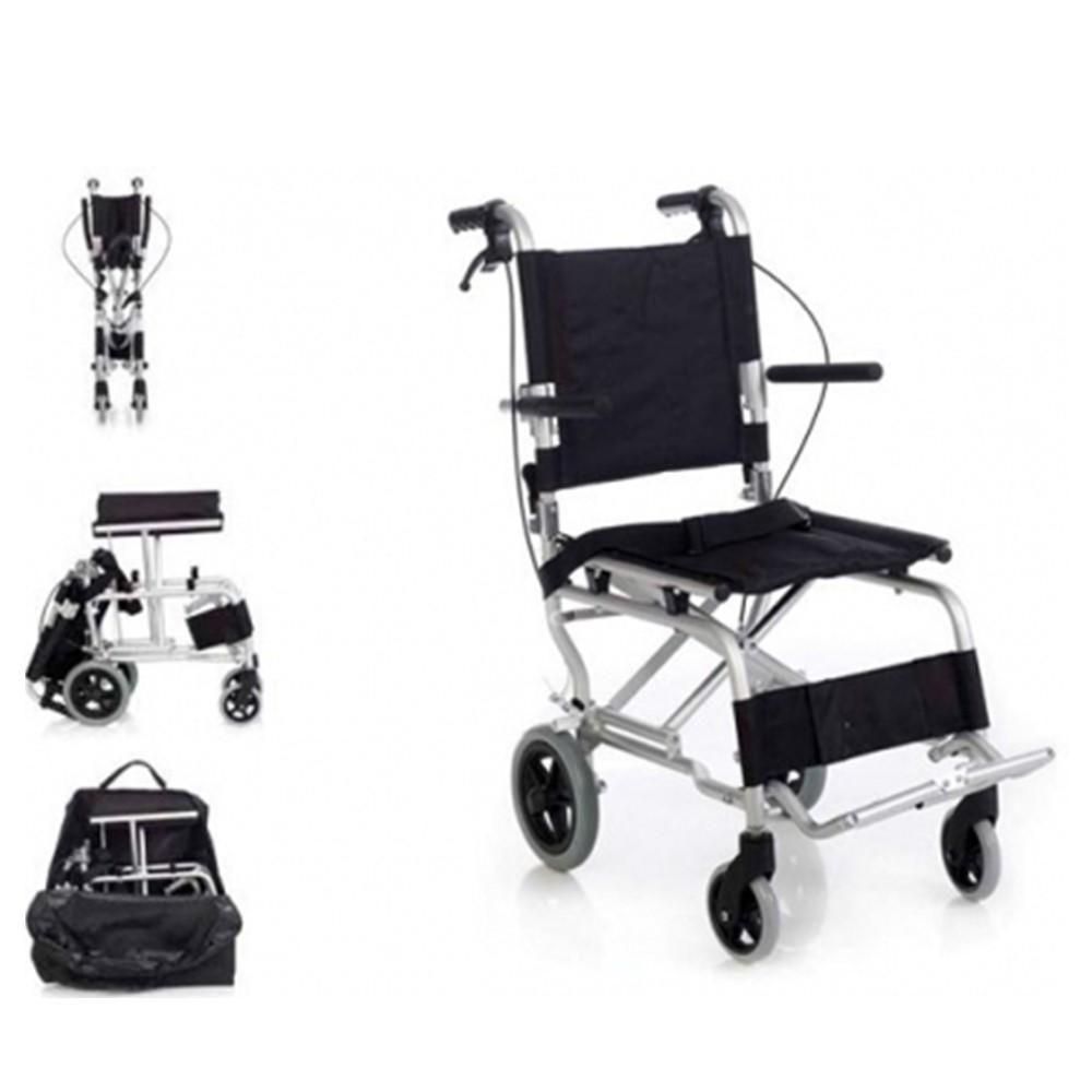 Silla de Transporte MC-800LBJ, silla de traslado plegable aluminio especial travel