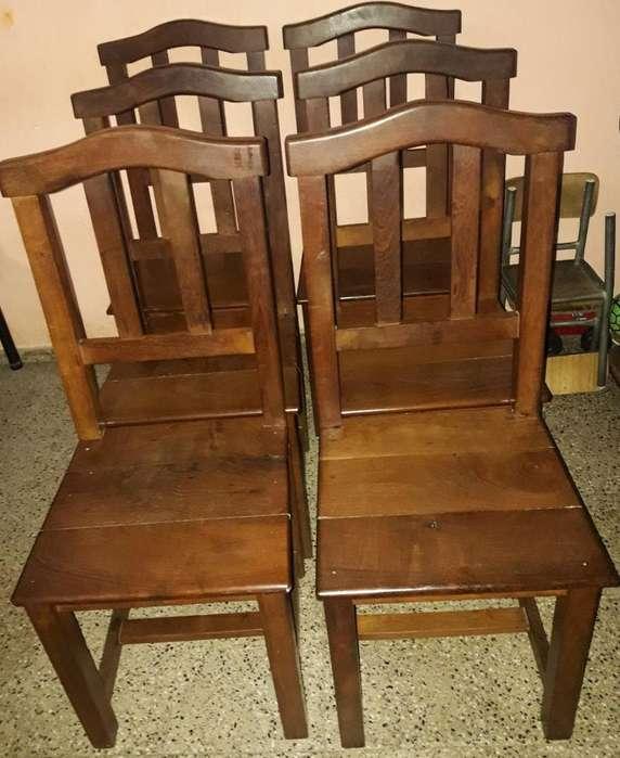 6 <strong>silla</strong>s de Algarrobo