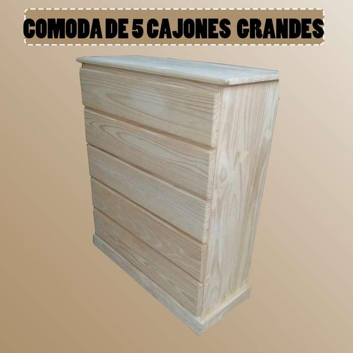 COMODA DE 5 CAJONES