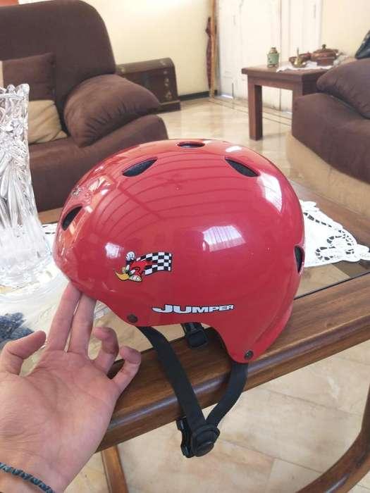 Casco para <strong>bicicleta</strong> O Skate Color Rojo