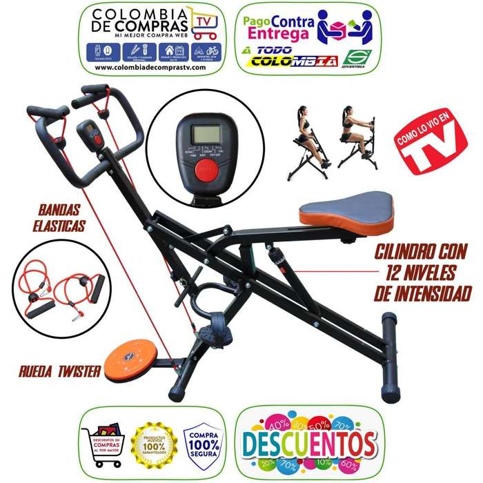 Espectacular Maquina TV Total Crunch MAX 2019, Rueda Twister, Bandas Eláscticas, cilidro de 12 velocidades.