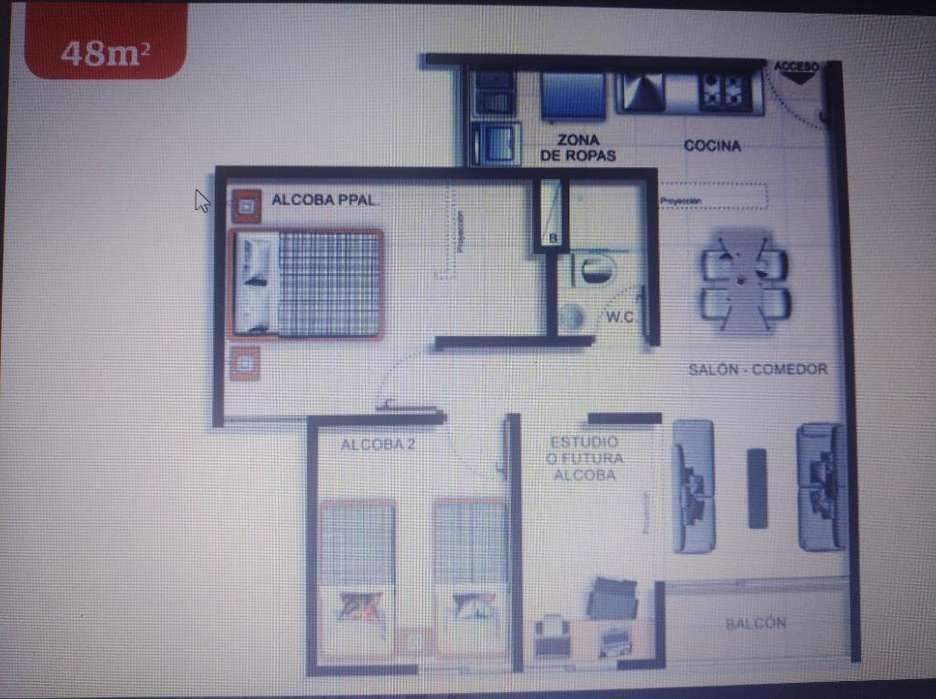 Apartamento La Estrella- Obra Gris-48m2