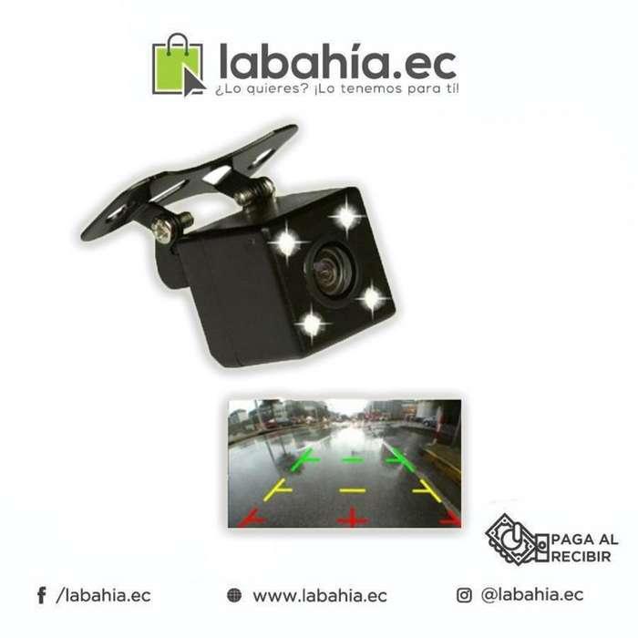 Camara De Retro Cuadrada 4 LED Vision Nocturna HD Con Soporte