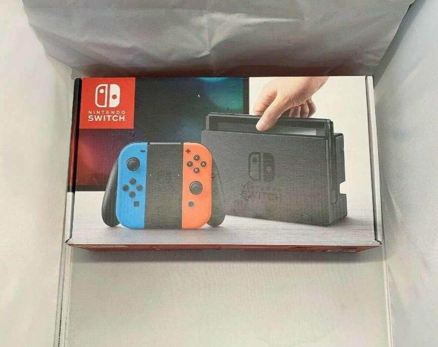 Nintendo Switch 32GB Consola Con Neón Rojo y Azul Neón