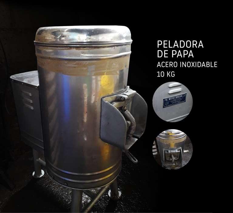 kit Peladora de papa / 2 Picadoras de corte kfc, papa al hilo, polleria / 1 balanza 100 kg