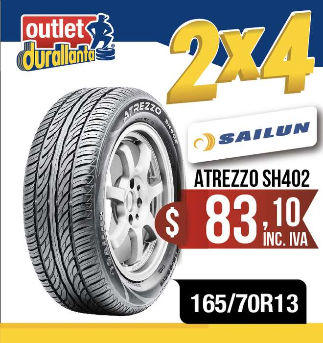 LLANTAS 165/70R13 SAILUN ATREZZO SH402 <strong>chevrolet</strong> CORSA EVOLUTION N200 FIAT UNO