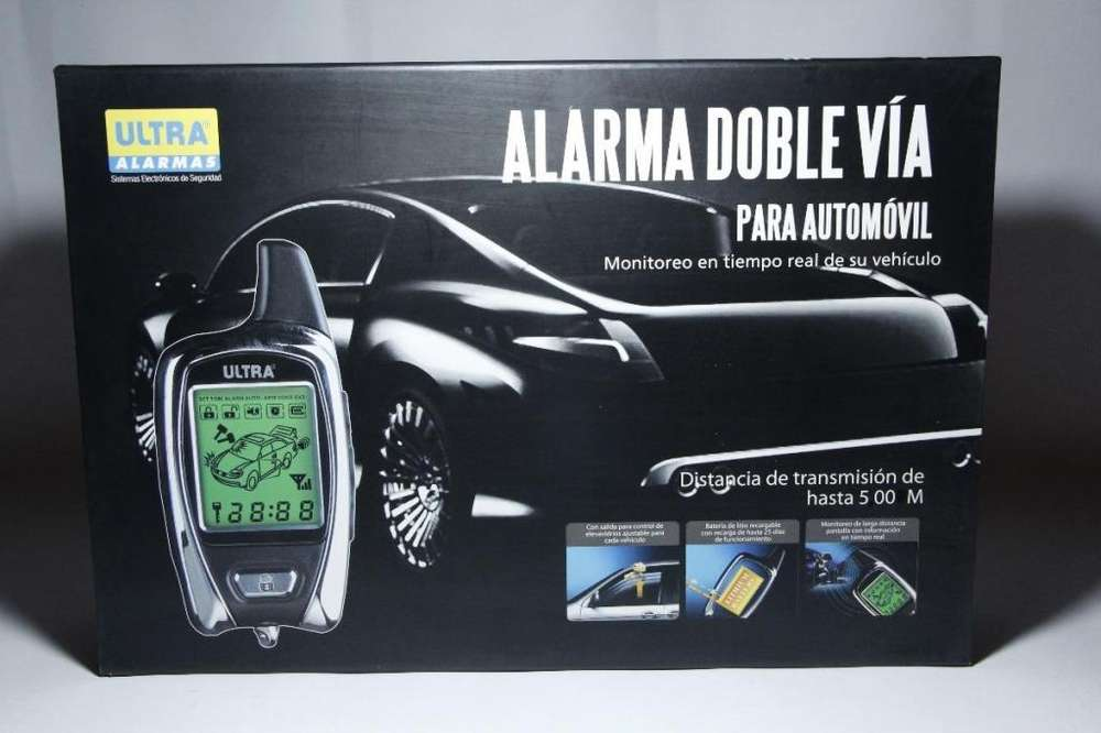 ALARMA DOBLE VIA CARRO