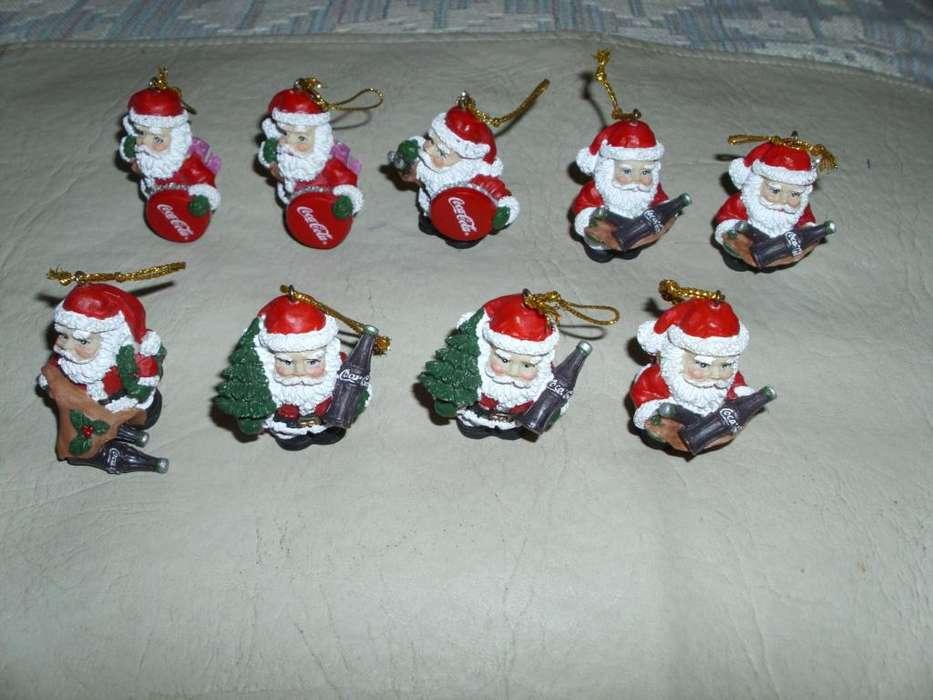 Coca Cola Coleccion Papa Noel Adornos Navidad x 9