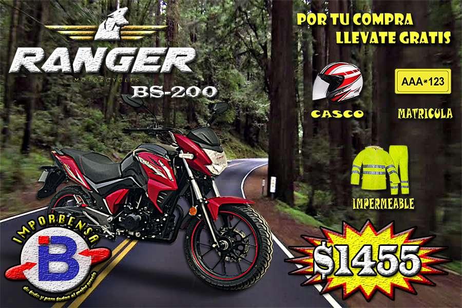 MOTOS SANTO DOMINGO//RANGER BS-200 , GRATIS CASCO,MATRICULA, E IMPERMEABLE//IMPORTADORA BENAVIDES SANTO DOMINGO