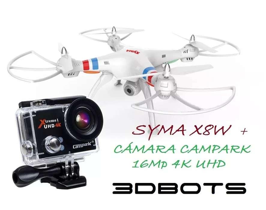 Dron Drone Syma X8w Cámara 4k Uhd 16mp Video Wifi